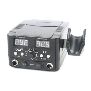 Image 3 - 2 في 1 محطة لحام قابلة للتنظيم مسدس هواء ساخن لحام الحديد الرقمية ضبط محطة إعادة العمل لحام مجموعة للهاتف PCB desolding