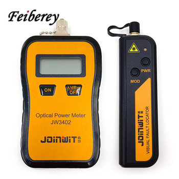 FTTH 2 in 1 OPM and VFL JW3402 Mini Handheld Optical Power Meter and JW3105N 10mW Visual Fault Locator Fiber Optic Tool Kits