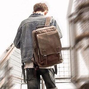 Image 5 - Nowy luksusowy plecak szkolny wodoodporny skórzany plecak na laptopa mężczyźni podróż nastoletni uczeń plecak torba mężczyzna Bagpack Mochila