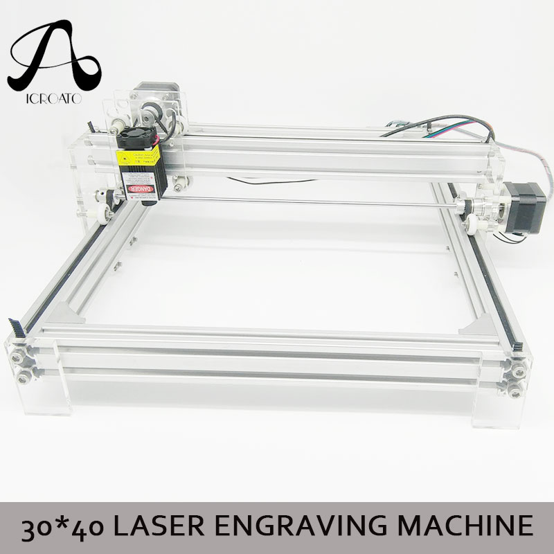 Zone de travail 40 cm x 30 cm, machine de CNC laser 500 mw/2500 mw/5500 mw, imprimante de CNC d'image de Machine de gravure Laser Violet bricolage de bureau