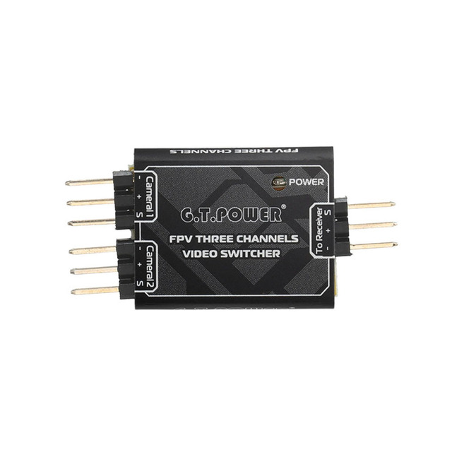 G.T.POWER 3 Channel Video Switcher Module 3 way Video Switch Unit for FPV Camera
