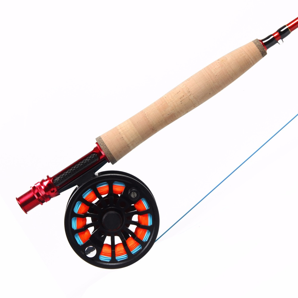 Angler Dream Fly Fishing Combo 3/4/5/8WT Carbon Fiber Fly Rod Kit CNC Machined Fly Fishing Reel & WF Fly Line Backing Leader fly fishing combo 5wt 9ft carbon fiber fly rod