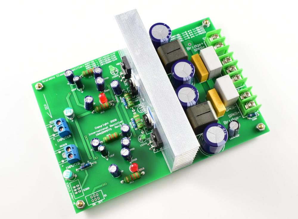 Hi-end L15DX2 Stereo amplifier board IRS2092 MOSFET IRFI4019H IRAUDAMP7S 125W-500W