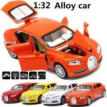 1:32 сплава модели автомобилей, высокая моделирования Bugatti спортивный автомобиль игрушечных автомобилей, металла diecasts, отступить и мигает и музыкальные, бесплатная доставка