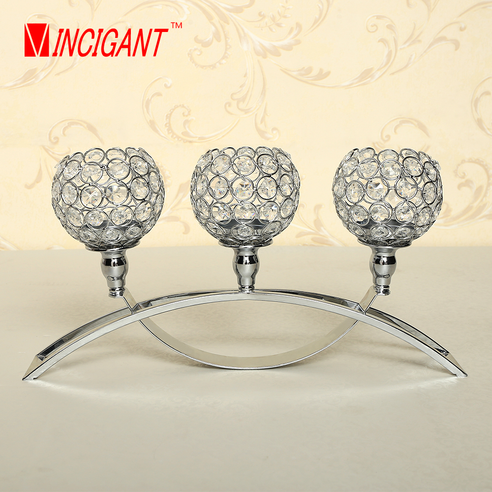VINCIGANT Candle Holders Crystal Candle