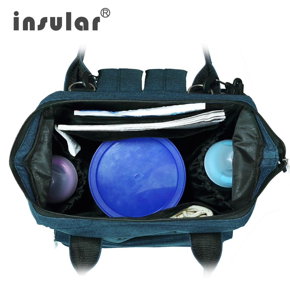 Nieuwe stijl Insular multifunctionele baby luiertas rugzak mode Mama - Luiers en zindelijkheidstraining - Foto 5