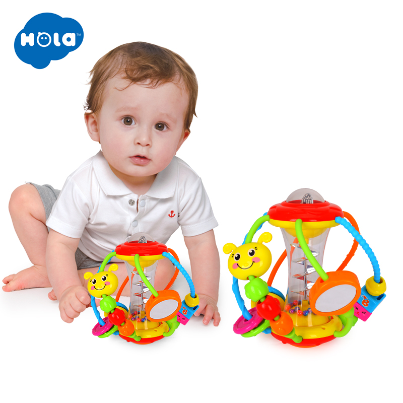Clack And Slide Activity Ball Baby Rattles Educational Toys For Babies Grasping Ball Puzzle Multifunction Bell Balls 0-18 Months