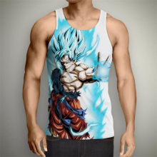 8dc9b49167a823 2017 summer hot sale Anime Dragon Ball Z Vest harajuku style Sleeveless T- shirt Goku Vegeta 3d print Unisex casual Tank Tops