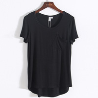 Fashion Women T Shirt Pocket cat Top Tee casual Short sleeve ZST1