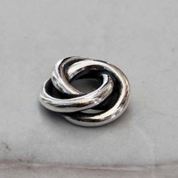 Solid 925 Sterling Silver Love Knot Charm Three In One Beads Fit European Brand Troll 3