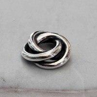 Sólido 925 Sterling Silver Love Knot Charme Três Em Um Troll Beads Fit Europeu Marca 3mm Pulseira Jóias