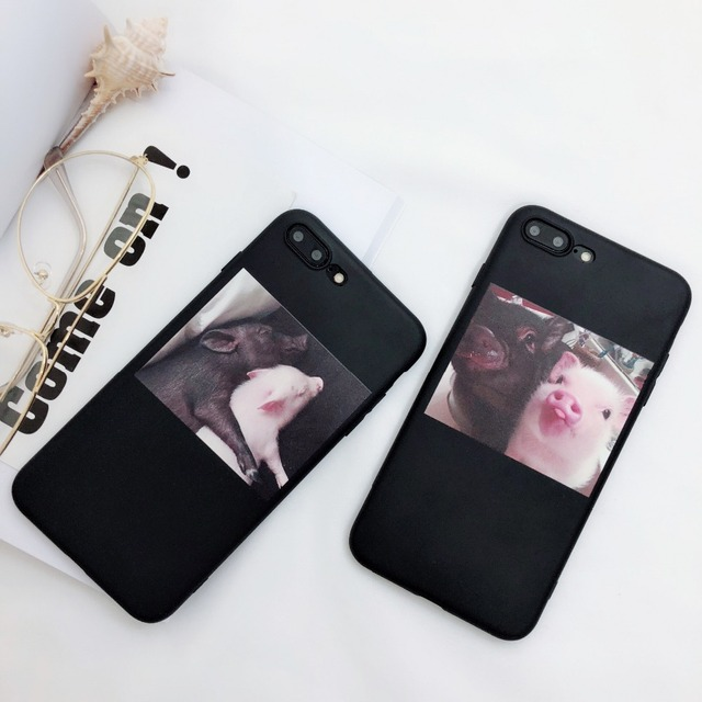 Funny Pig Cartoon Couple Cases For iPhone 4
