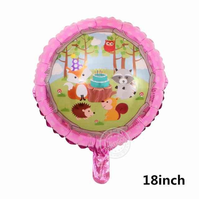 5 pçs/lote Balões Animais Guaxinim E Raposa Selva Balão De Hélio Feliz Aniversário Decorações Do Partido Crianças BabyShower Decoração Brinquedo
