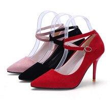 Sexy High Heels Sandalen Spitz Pumpen Dünne Ferse Quer Straps High Heels Schöne Hochzeit Kleid Büro Schuhe Für Frau pumpen