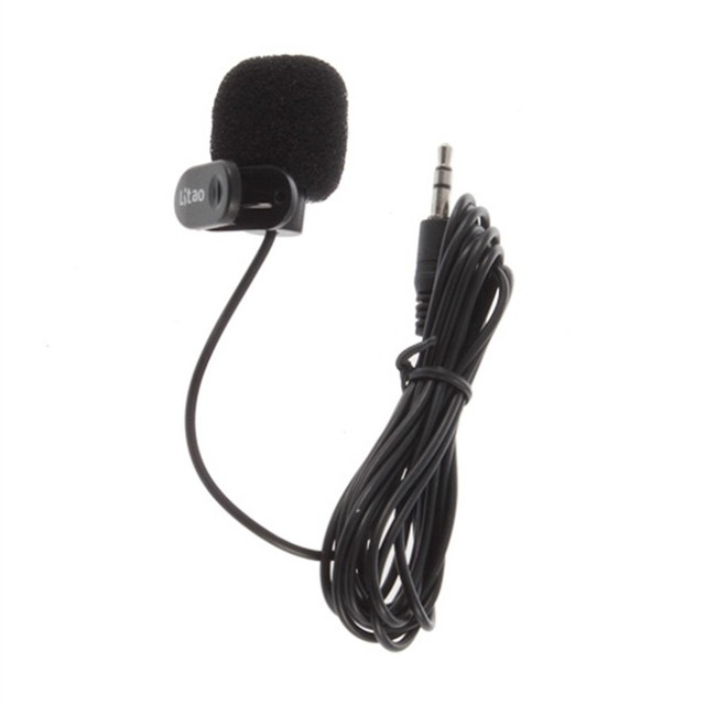 Hot New 3.5mm Mini Studio Black microfone Hands Free Clip Speech Microphone for PC Desktop Notebook For Computer wholesale