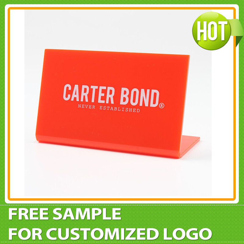 Free Shipping Acrylic Brand Display Acrylic Logo Block Nameplate Signage Plaques Pop Stand L066 signage