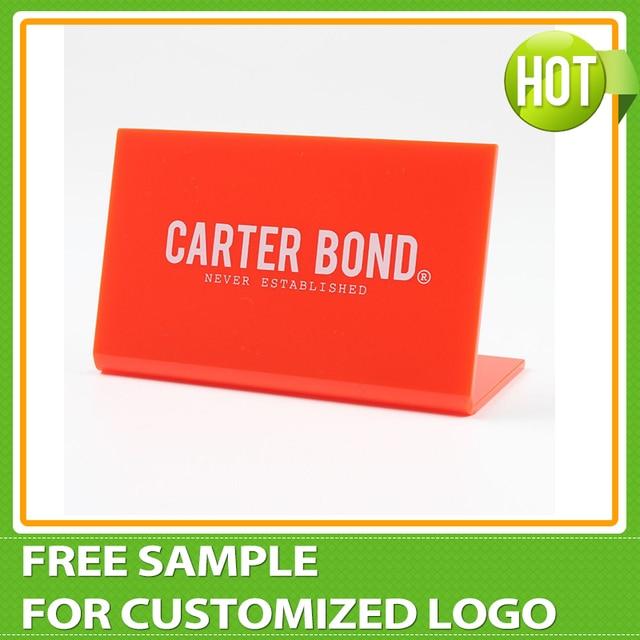 Custom logo acrylic brand display acrylic logo block for Custom acrylic blocks
