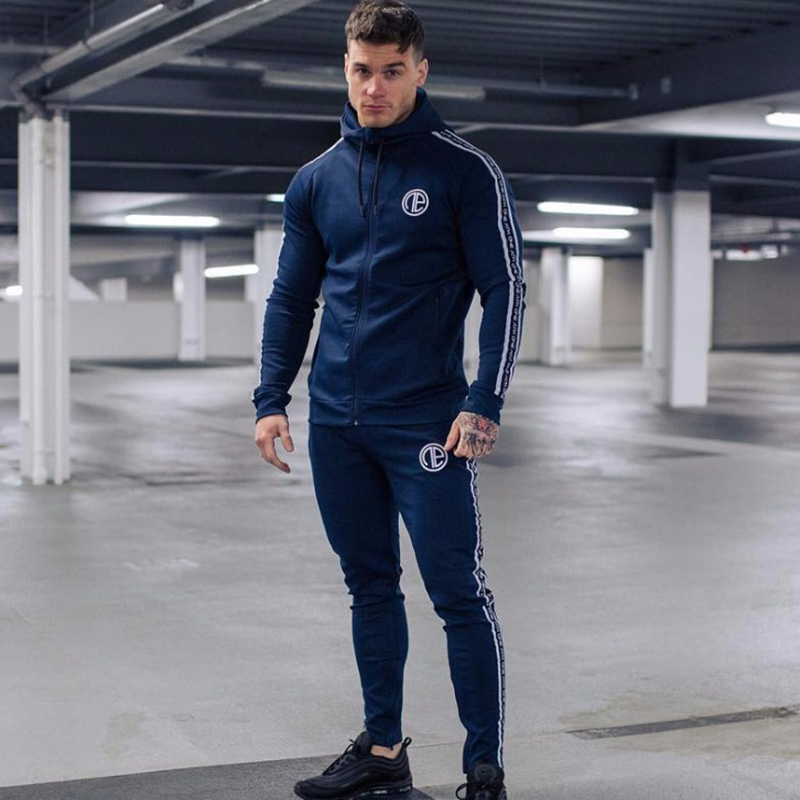 plus size sport wear tracksuit men sets running gym