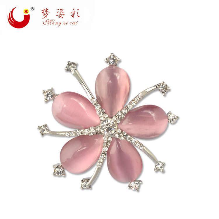 MZC Bella Rosa Opal Cherry Blossoms Spille Fiore di Cristallo Brosh Broches Mujer Distintivo Spilla per Le Donne Abito Da Sposa