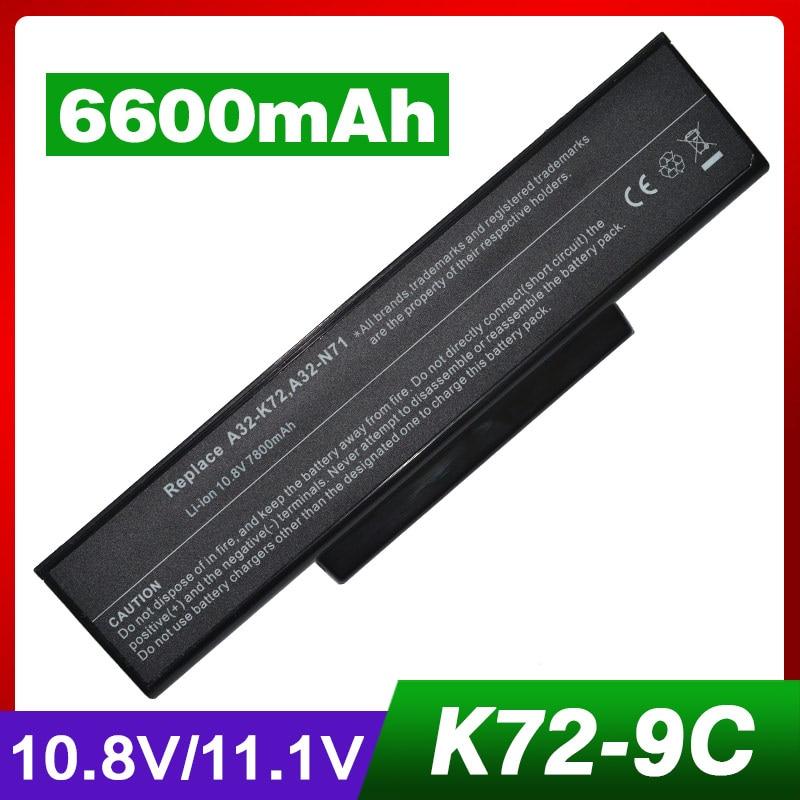 BATTERIE pour ASUS X72DR 70-NZYB1000Z 10.8V  6-cells