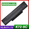 laptop battery for Asus li-ion A32-K72 A32-N71 K72DR K72 K72D K72F K72JR K73 K73SV K73S K73E N73SV X77X77VN k72-100 X77VN 9cells