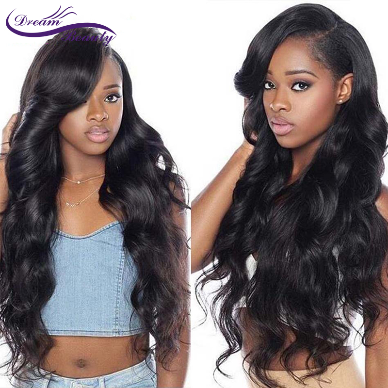 Dream Beauty Remy Brazilian Body Wave Wig 130% Density Lace Front Human Hair Wigs With Baby Hair Pre Plucked Hairline