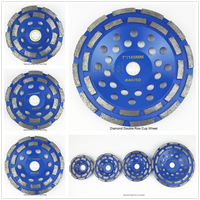 1 Pc Diamond Double Row Cup Wheel For Granite Hard Material With Good Quality Thickness Of