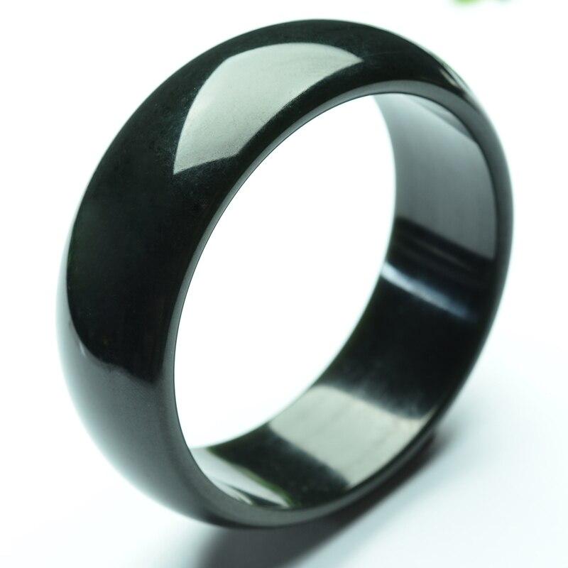 Hetian stone bracelet, too wide version of the bracelet ink bracelet /Gift box