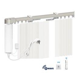 Motor de cortina para el Hogar Inteligente con varilla, cortinas eléctricas z-wave con Motor y interruptor de pared, Control por App personalizado