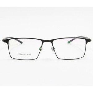 Image 4 - Monture de lunettes pour hommes P9960, en alliage de titane, cadre de lunettes lunettes pour hommes IP, matériau en alliage, monture complète, charnière à ressort