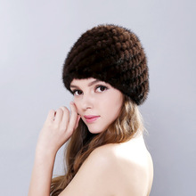 2017 winter fur hat women genuine rabbit cap Russian beanies fashion High-quality warm hats for