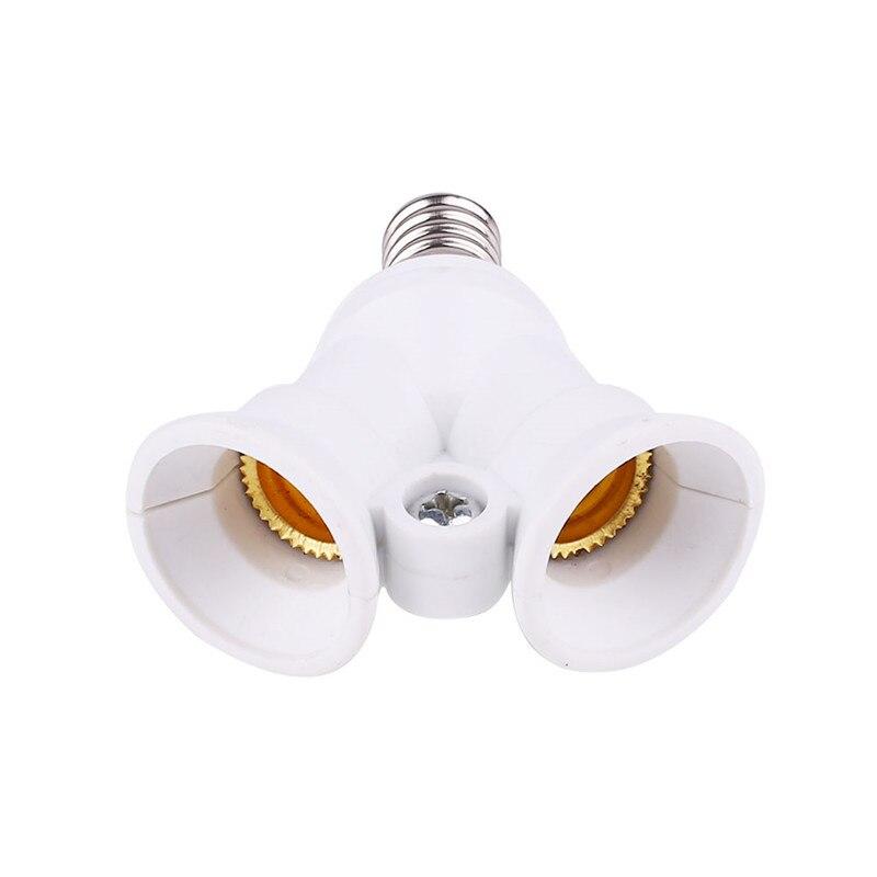 Lighting Accessories Led E14 To 2 E14 Lamp Holder Adapter Energy Saving White Light Lamp Bulb Splitter Converter Ac220-230v Bulb Holder