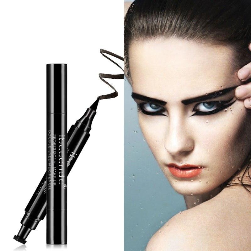 Image 2 - Hot 4 Styles Eyeliner Stamp Pencil Black Liquid Makeup Waterproof Long lasting Eye Liner Wing Stamps delineador-in Eyeliner from Beauty & Health