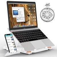 מחשב נייד lenovo 360 מחשבים ניידים סיבוב Stand Stand מחברת מתקפלת עבור מחשב נייד מחזיק Macbook Lenovo קירור סוגרים עם מחזיק טלפון (1)