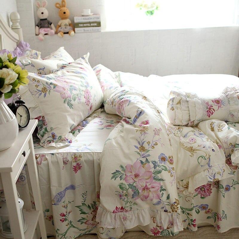 nueva flor prpura noble juego de cama sbana funda nrdica ropa de cama de la colmena