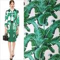 Folha de bananeira roupas jacquard tecido 2016 da folha da banana verde jacquard outerwear one-piece vestido 145 cm * 50 cm