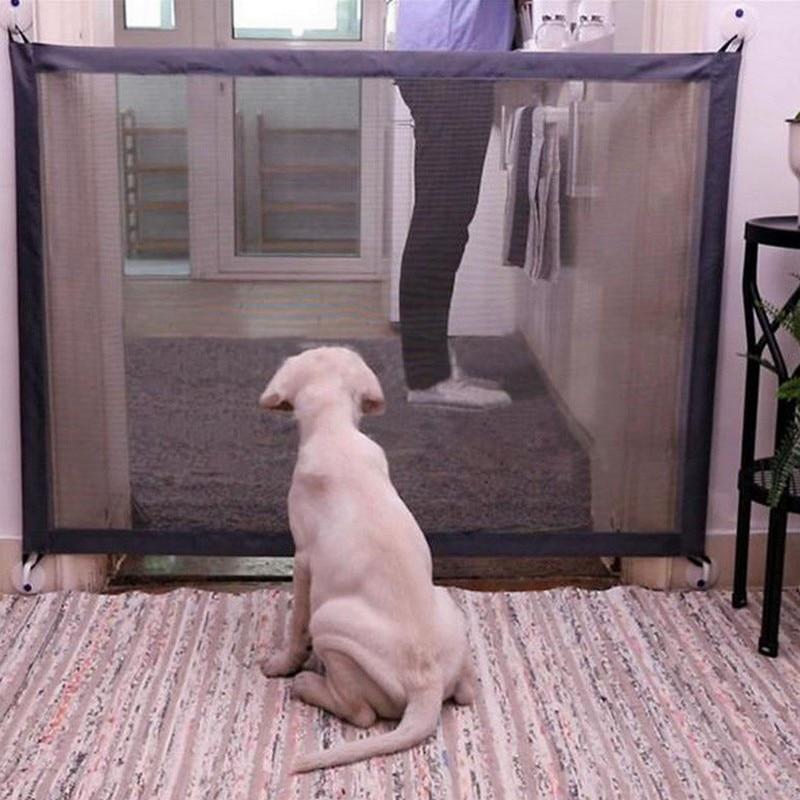 Cancello cane Portatile Pieghevole Guardia di Sicurezza Prodotti di Sicurezza Di Protezione Della Maglia Magia Cancello Pet Per I Cani Guardia di Sicurezza Del Cane Recinzioni Del Bambino recinzione