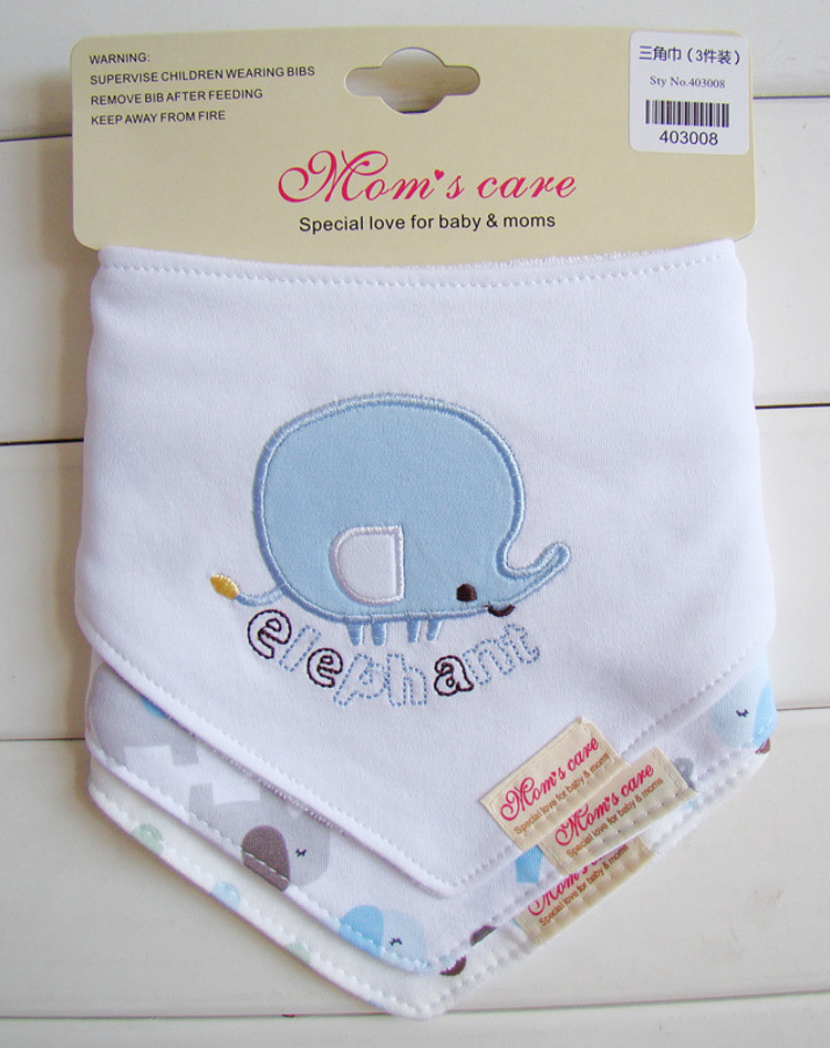 3pcs/lot Cotton Baby Bibs Animals Towel Baby Bandana Para Toddler Baby Bib And Burp Cloths