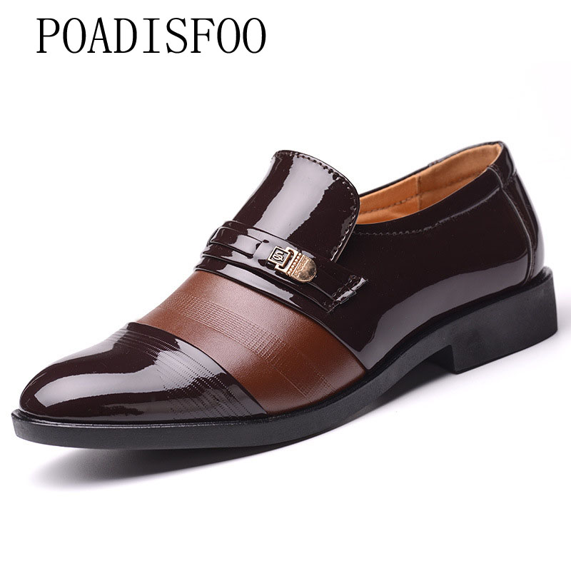 Poadosfoo 2019 Winter Mens Business Dress Shoes Mens Feet Plus Velvet Cotton Shoes Mens Shoes Xq-2046 Formal Shoes