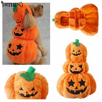New Pattern Dog Halloween Clothes Pet Halloween Costume Fashion Draping Pumpkin Pattern For Pet Dog In