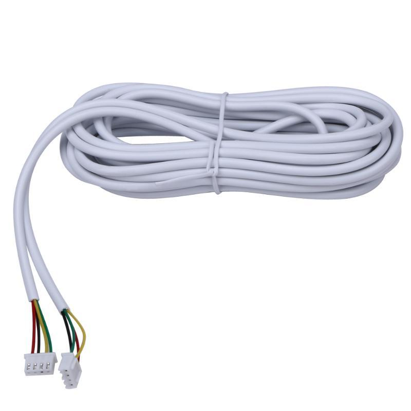 HomeEye AVVR 4*0.12 4 Wire Copper Line Wire Cable For Video Intercom Color Video Door Phone Doorbell Wired Intercom 5M