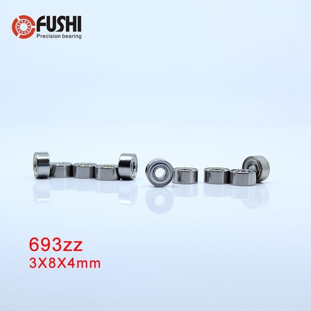 693zz подшипник 3*8*4 мм (10 шт.) ABEC-7 миниатюрный Двигатели для автомобиля 693 ZZ подшипник 619/3zz r-830zz emq Двигатели Вентиляторы 693z 693 Подшипники