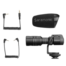 лучшая цена Saramonic Vmic Mini Condenser Microphone with TRS TRRS Cable Shotgun Mic for iPhone Android Smartphones PC Tablet