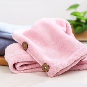 Image 4 - Xiaomi Mijia Women Bathroom Super Absorbent Quick drying Polyester with Cotton Bath Towel Hair Dry Cap Salon Towel 24x64cm