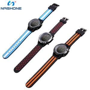 Image 3 - Nashone montres pour hommes étanche montre intelligente passomètre rappel dappel multi fonction en acier inoxydable montre de sport horloge numérique