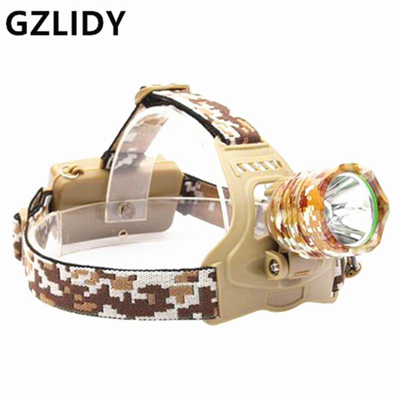 CREE 4000LM XM-T6 Led Headlamp Headlight Camouflage led Head Lamp Rechargeable Lantern Lamp Camping Hiking Fishing Light hot waterproof t6 led headlight headlamp for camping hiking rechargeable head lamp light zoomable 4 mode adjust focus light
