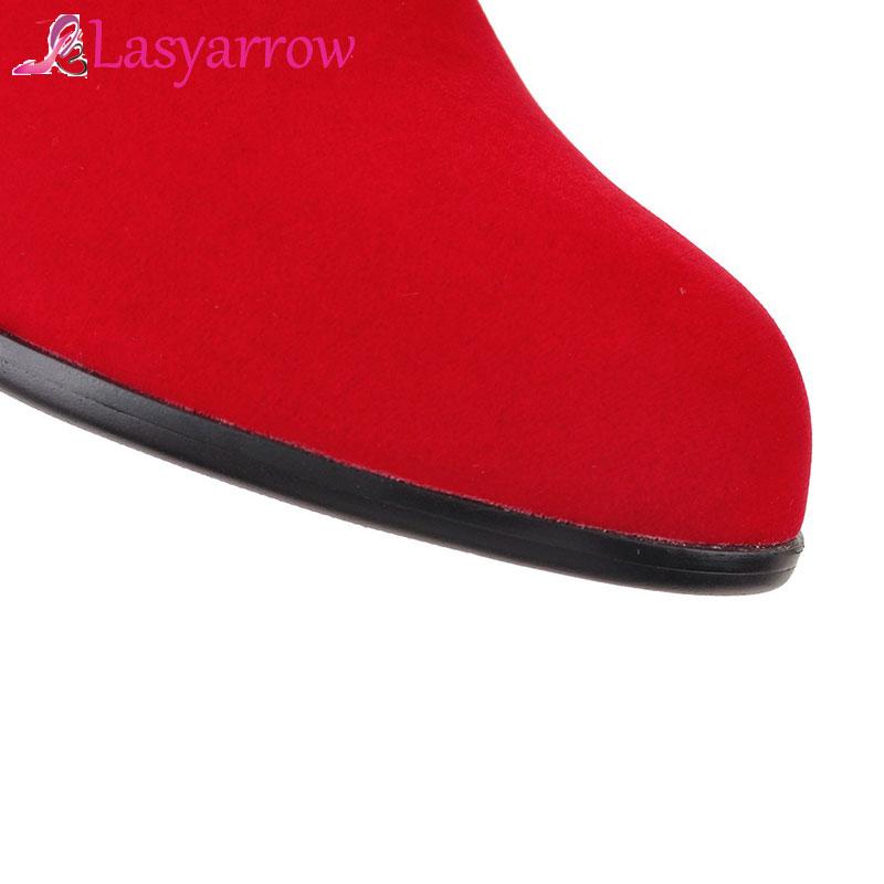 Chaussures De Femme Rouge Noir Hiver Longues Haute Bottes Dames Femmes rouge Strass Cuisse Lasyarrow Botte Cuissardes Noir Automne Mariage xXfYHqwan
