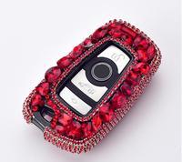 Gift Luxury Diamond Bling Key Case Holder Pocket For BMW X3 X4 730 750 F30 F10 F18 118i E90 1 2 3 4 5 6 7 Series GT M1 M2 M3 Z4