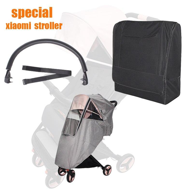 Xiaomi cochecito de bebé carrito reposabrazos mosquitero cubierta de lluvia bolsa de almacenamiento niños cochecito Xiaomi accesorios para cochecito