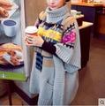 El embarazo de Las Mujeres vestido de invierno suéter de maternidad jersey de cuello alto suéter de la señora plus de gran tamaño